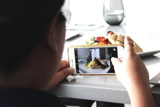 taking photos of food